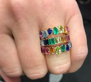 Rainbow ring stack