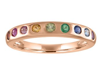 Thin band with rainbow stones