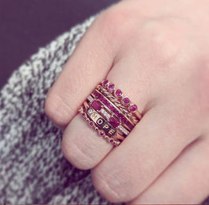 assorted ring stacks with erica