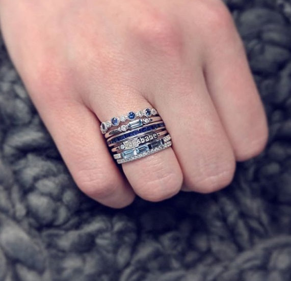 assorted ring stacks with julie