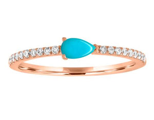 Layla ring with turquoise pear