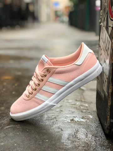 ca226f9bf99 ADIDAS Lucas Premiere Pink   White shoes – Wall Street Skateshop