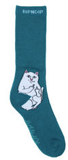 RIPNDIP Lord Nermal socks Aqua