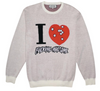 FA I Heart knitted sweater cream