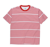 POLAR TEE STRIPE LOGO Red/white