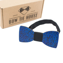 Blue Branches Bow Tie