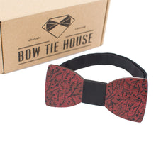 Red Branches Bow Tie
