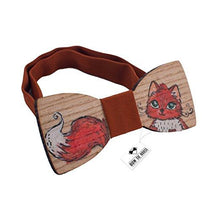 Wooden Red Cat Fox Bow Tie - Bow Tie House
