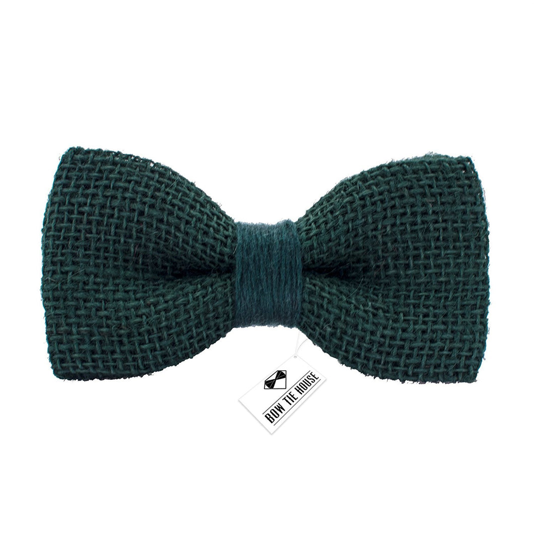 Burlap Rustic Green Bow Tie - Bow Tie House