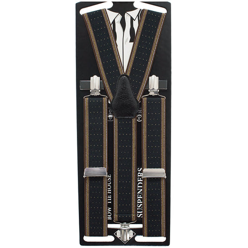 Black Brown Dots Suspenders - Bow Tie House