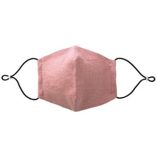 Reusable Blush Pink Linen Face Mask - Bow Tie House