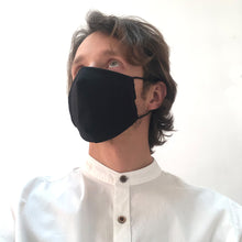 Reusable Black Cotton Face Mask - Bow Tie House