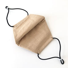 Reusable Beige Linen Face Mask - Bow Tie House