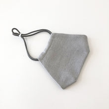 Reusable Silver Linen Face Mask - Bow Tie House
