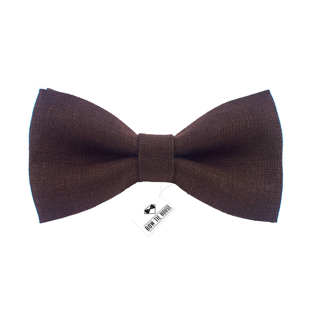 Linen Umbra Brown Bow Tie - Bow Tie House
