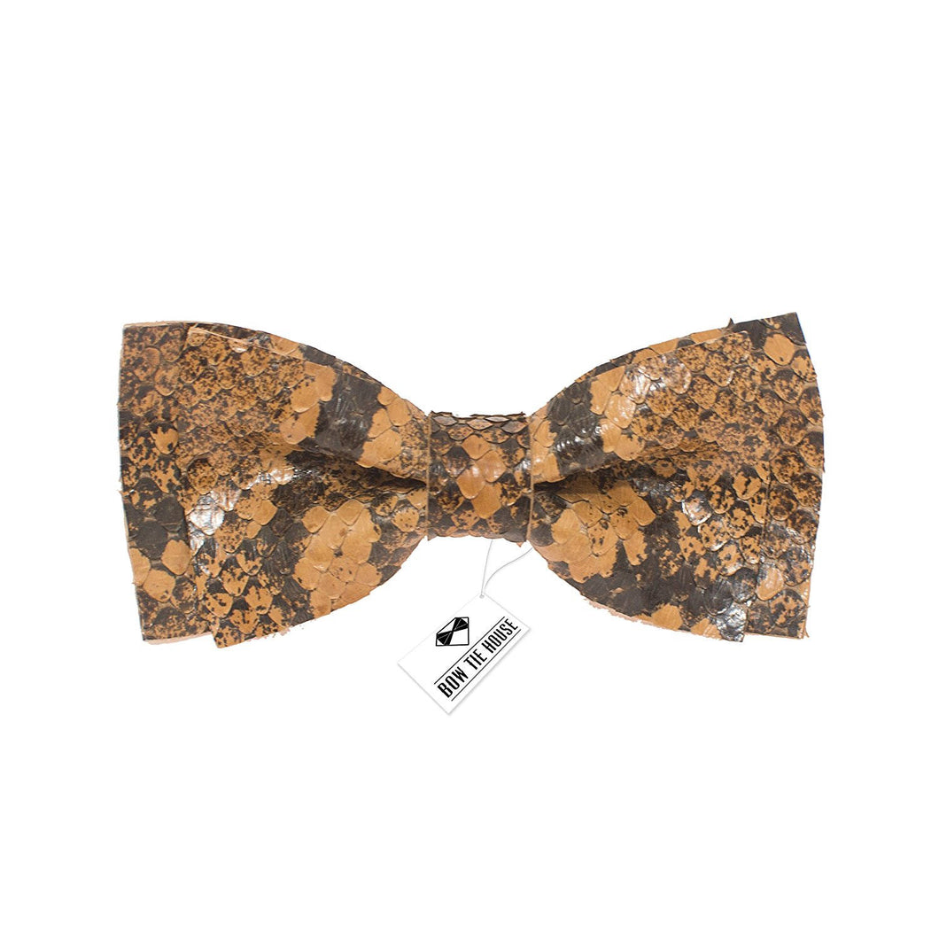 Leather Python Bow Tie