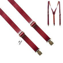 Glossy Red Leather Suspenders - Bow Tie House