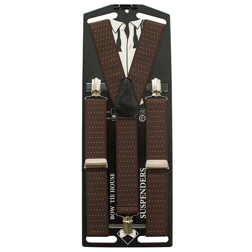 Polka Dots Brown Suspenders