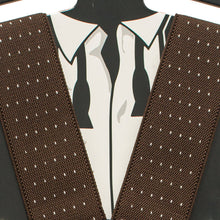 Polka Dots Brown Suspenders - Bow Tie House
