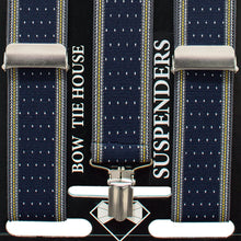 Striped-Dots Blue Suspenders - Bow Tie House