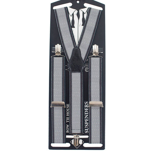 Striped-Dots Grey Suspenders