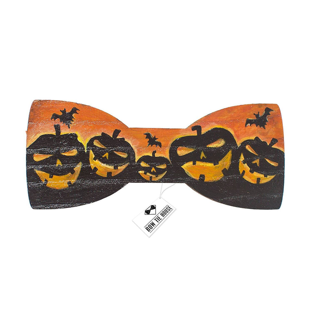 Wooden Pumpkin Bow Tie - Bow Tie House