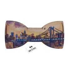 Wooden New York Bow Tie