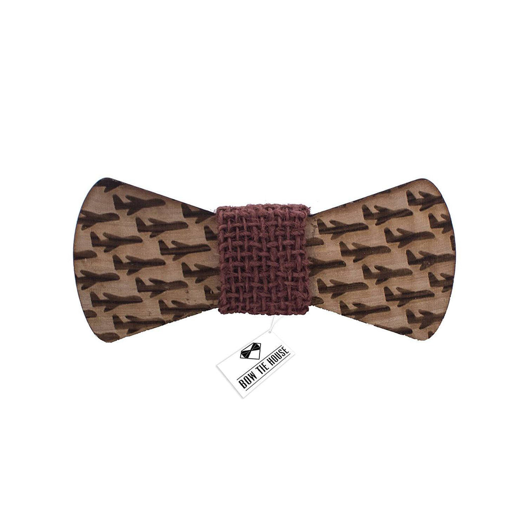 Wooden Plane Brown Bow Tie - Bow Tie House