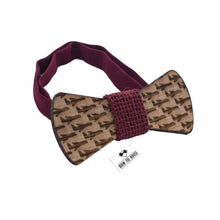 Wooden Plane Dark Red Bow Tie - Bow Tie House