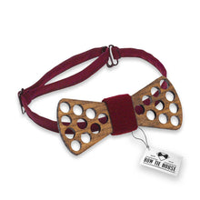 Wooden Holes Red Bow Tie - Bow Tie House