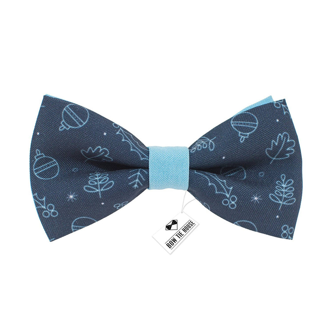 Christmas Blue Bow Tie - Bow Tie House