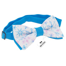 Snowflakes Blue Bow Tie - Bow Tie House
