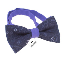 Snowflakes Purple Bow Tie