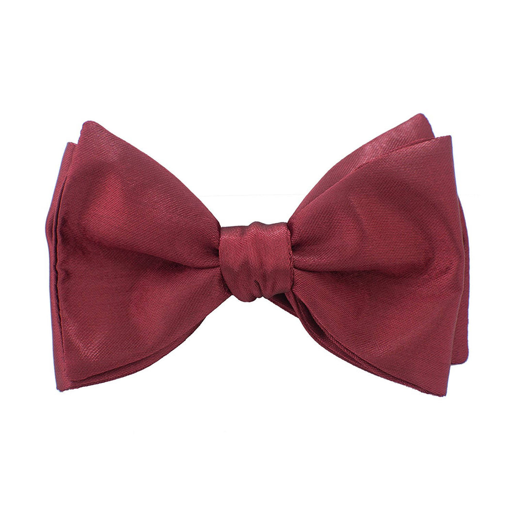 Self Tie Dark Red Bow Tie - Bow Tie House