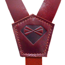 Glossy Red Leather Suspenders