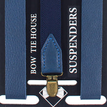 Blue Leather Suspenders - Bow Tie House