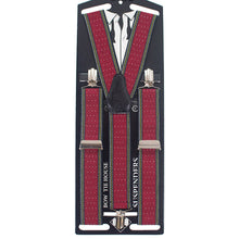 Striped-Dots Red Suspenders