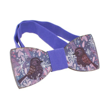 Wooden Purple Birds Bow Tie - Bow Tie House