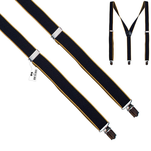 Black-Yellow Slim Suspenders