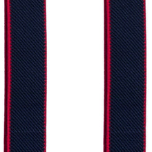 Navy Blue-Red Slim Suspenders