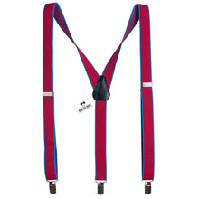 Pink-Blue Slim Suspenders