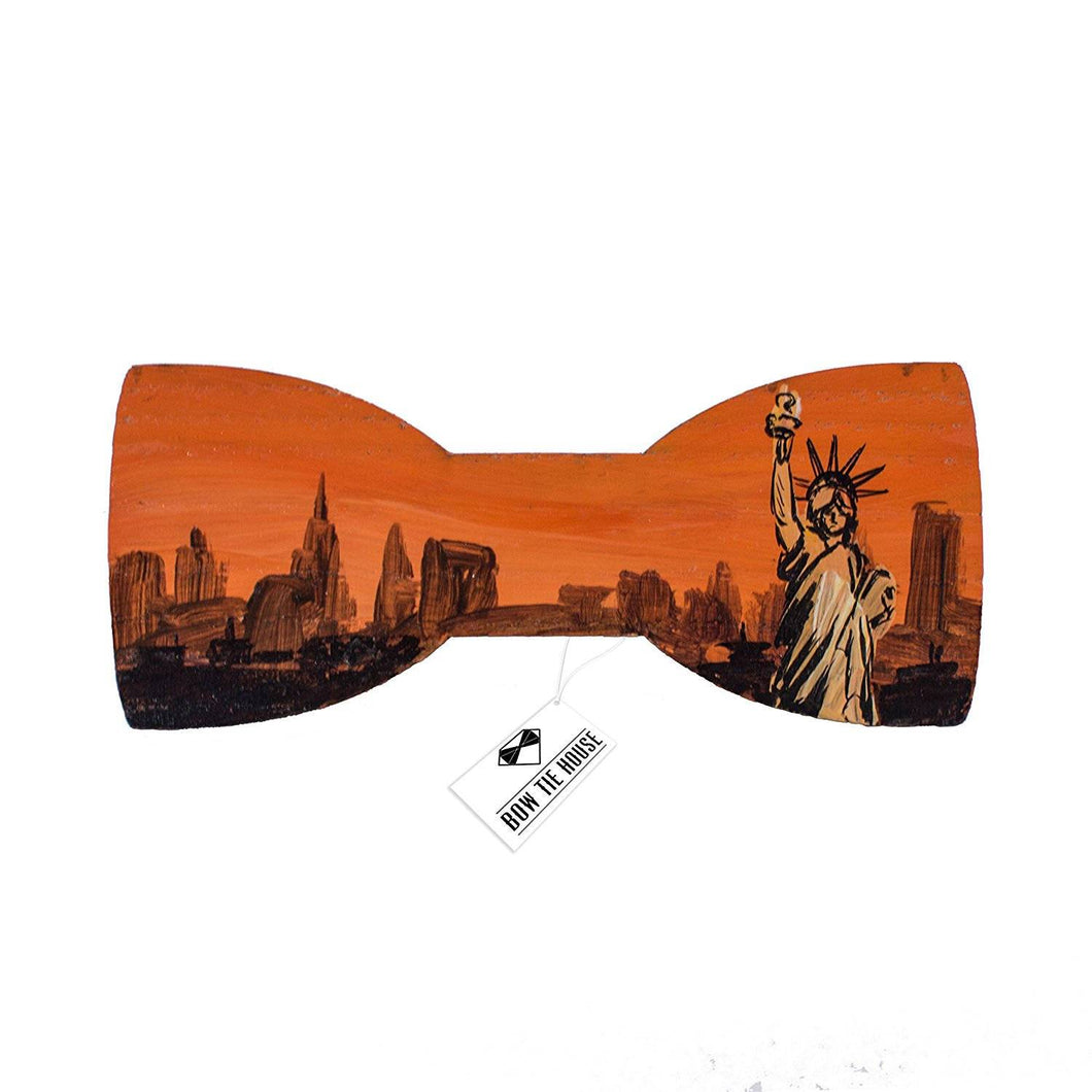 Orange Patriotic Bow Tie