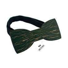Wooden Ink Cracks Green Bow Tie - Bow Tie House