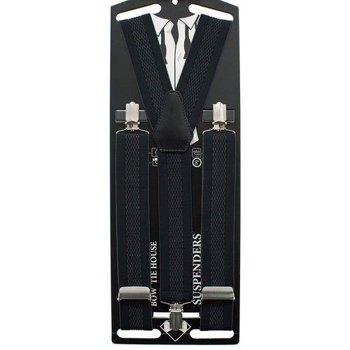 Black Suspenders - Bow Tie House