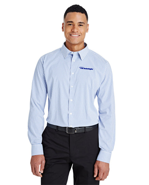 Devon & Jones CrownLux Performance™ Men's Micro Windowpane Shirt
