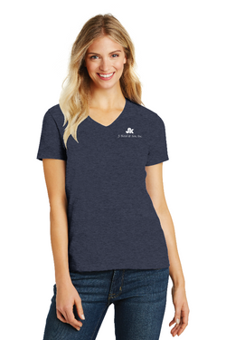 LA5 - District Made® Ladies' Perfect Blend® V-Neck Tee Shirt
