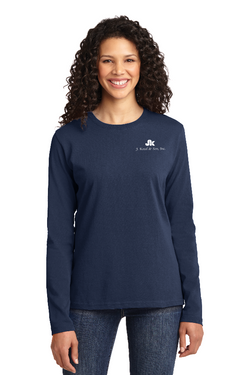 LA6 - Port & Company® Ladies Long Sleeve Core Cotton Tee