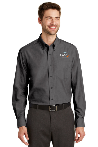 Port Authority® Crosshatch Easy Care Shirt