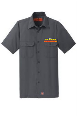 Tire Choice Manager/Counter Shirt - Red Kap® Short Sleeve Solid Ripstop Shirt