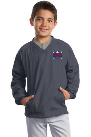 Sport-Tek® Youth V-Neck Raglan Wind Shirt